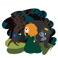 Merida and Elinor by MarieBlack07
