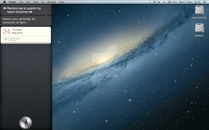 Mac OS X Mountain Lion Siri Concept by michi-kobayashi