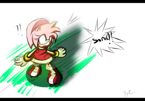 Amy rose Sonic?! by Zubwayori
