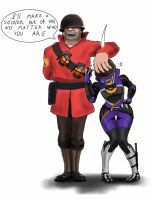 Mass Fortress Meet the soldier by spaceMAXmarine