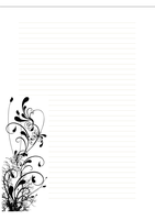 Free Stationary- Floral1 by cpchocccc