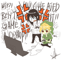 BEN vs Jeff-Video Game by Ari-chii19
