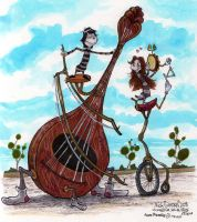 Jojo Fiddles With Anne Merrie by Phraggle