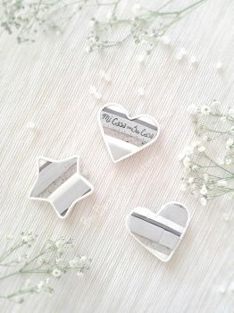 Polymer clay Heart Magnets by BonBerry25