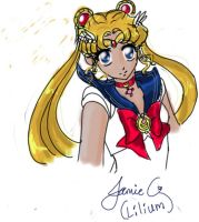 Artgrounds Sailormoon Doodle by Jeishii