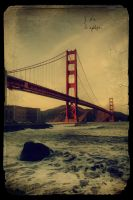 Vintage Golden Gate Bridge by JoKeR0720