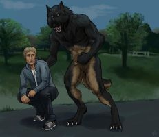 Commission: Shane and Alex by lycanthropeful