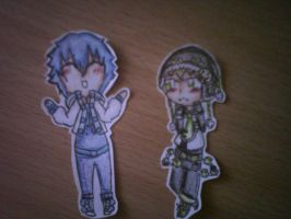 noiz and aoba paper kids XD by clayfangirl