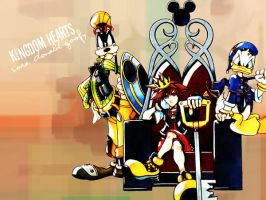 Kingdom Hearts wallpaper by ni-chii