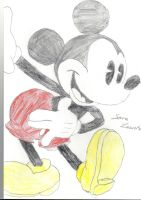 Mickey Mouse (steam Boat Willie) by Alice-Lidell