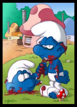 ZOMBIE SMURFS by 3Dx2Y