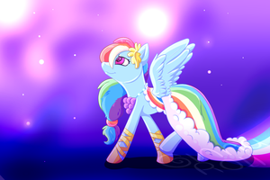 Rainbow Dash by starlitshore