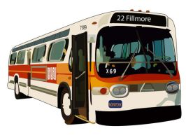 22 Fillmore Muni Bus by MofoOnCrack