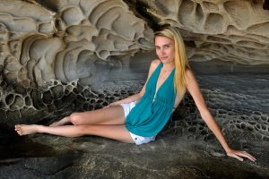 Natalie P - cave blue 1 by wildplaces