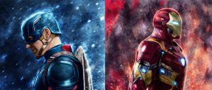 Captain America and Iron Man by p1xer