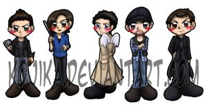 Supernatural Bookmark Set by kojika