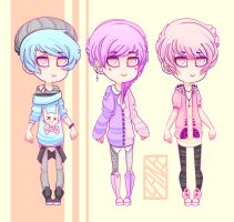 Pastel Goth Adopts (CLOSED) by Lanisaurus