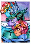 Anime MLP Fusion - Dash, Spike and Scootaloo by LinaPrime
