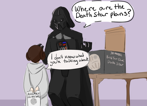 Death Star Plans by The-Brave-Kitten