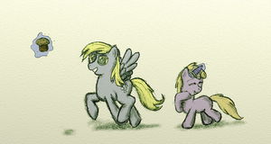 Derpy and Dinky by tinfdraw