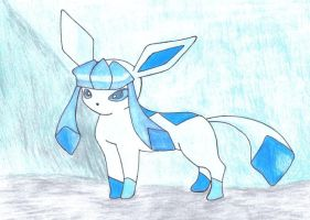 Glaceon In The Winter by jackstar93