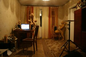 One of two rooms in my flat by Sadania