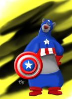 Baloo as Captain America by amydrewthat