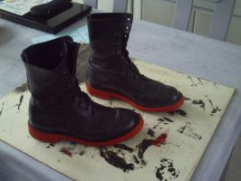 selfmade boots for edward elric cosplay by downfall-cosplay