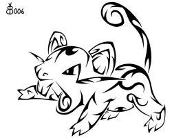 #019: Tribal Rattata by blackbutterfly006