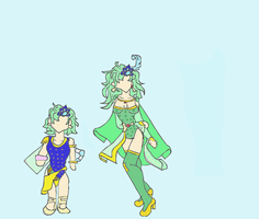 Rydia of the Mist: Child and Adult by Kalea--Jade
