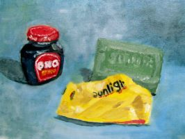 Oxo and soap oil on canvas by gmey
