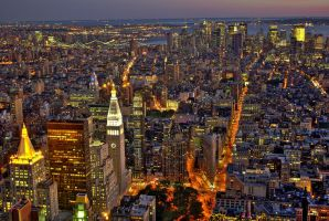 New York At Night by gavwvin