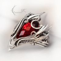 LUQTURH  - silver and red topaz. by LUNARIEEN