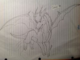 Dragon sketch by FireMoon9
