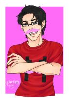 =Gift= Wilfred Warfstache by yulia-hime