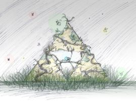 Navi and the Triforce Sketch- Colored by totalexistancefail