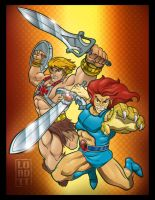He-Man 'n' Lion-O 3D by lordmesa