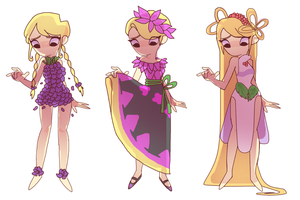 Holly Flower Dresses P2 by blue-pizza123