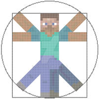 Vitruvian Minecraft Man by rhaben