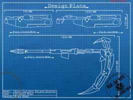 RWBY : Crescent Rose blueprints by crypticspider