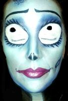 Face Painting Emily Corpse Bride by facepaintingparadise
