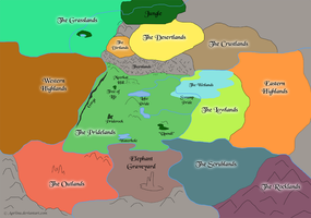 The Lion King World Map by Aariina