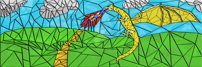 Stained Glass Dragon ver3 by C-Hillman
