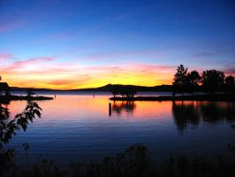 Sunset at Lake Dardnell by Chessta