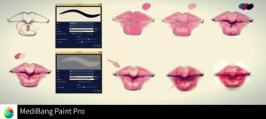 Lips step by step-MediBang Paint by ryky