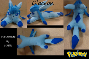 CO: Glaceon Plush by K3RI1