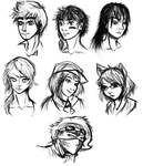 Thank You Sketches by CoattailsOfJustice