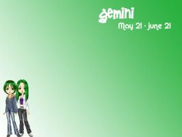 Gemini Girls wallpaper by piratekitten