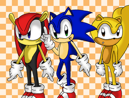 Sonic and Friends by sketchinnegro