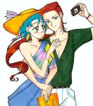 On vacation with you - Ami and Taiki by IlariaSometimes